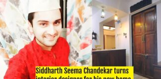 Siddharth Seema Chandekar turns interior designer for his new home