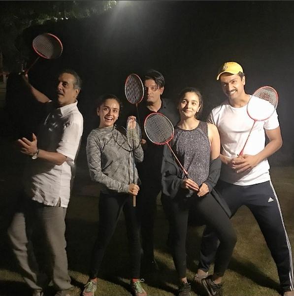 Amruta khanvilkar enjoy late night badminton with Alia Bhatt
